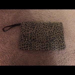Cheetah Print Envelope Clutch
